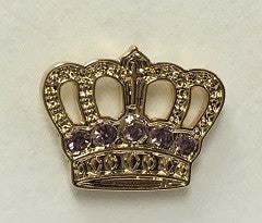 Gold Plated Crown - 30 yr pin