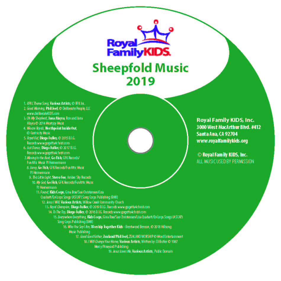 MBC - The Sheepfold Music CD