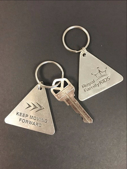 Keep Moving Forward Key Ring