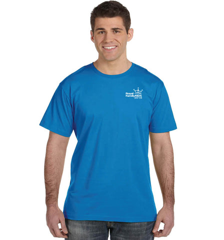 2018 Men's Turquoise Blue Crew Neck T-Shirt