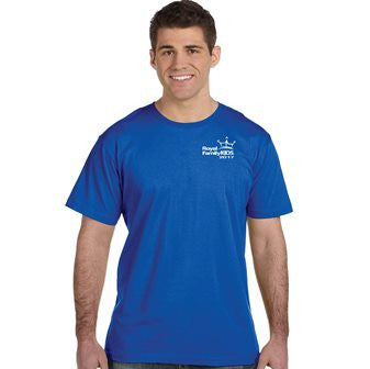 2017 Men's Blue Crew Neck T-Shirt - TALL Sizes