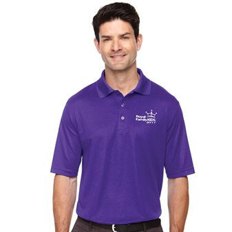 2017 Men's Purple Wicking Polo