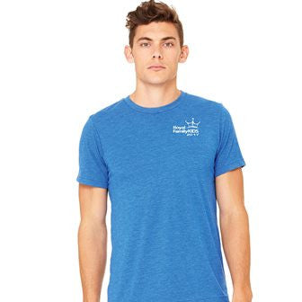 2017 Men's Blue Tri-Blend Crew Neck T-Shirt