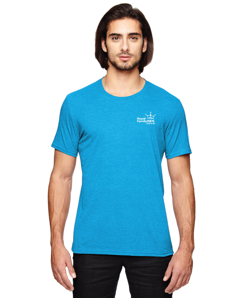 2018 Men's Aqua Tri-Blend Crew Neck T-Shirt