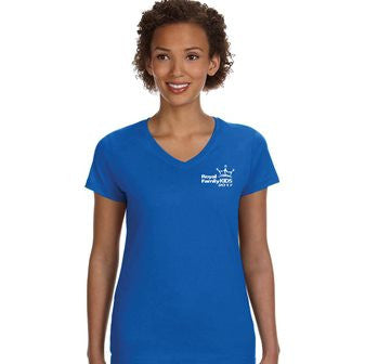 2017 Ladies' Blue V-Neck Ladies Tee