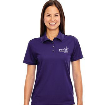 2017 Ladies' Purple Wicking Polo