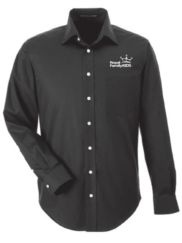 Men's Black Long Sleeve Dress Shirt