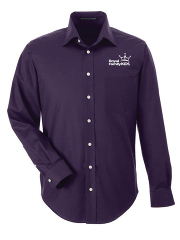 Men's Purple Long Sleeve Dress Shirt