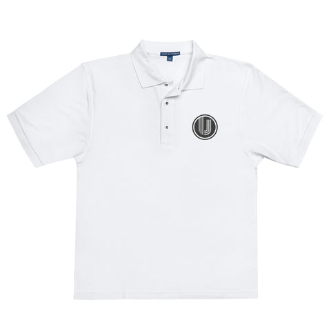 White Embroidered UVC Logo Premium Polo