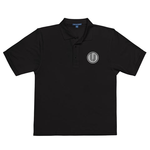 Black Embroidered UVC Logo Premium Polo