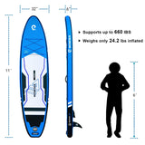 Trophy T1 11' SUP Paddle Boards Paket - wowseasup