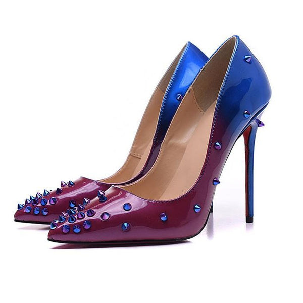 Womens Wedding Party Dress Spikes Sexy Pumps