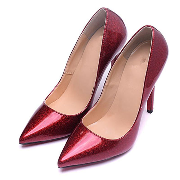 Womens Red Bottom Wedding Party High Heel Pumps