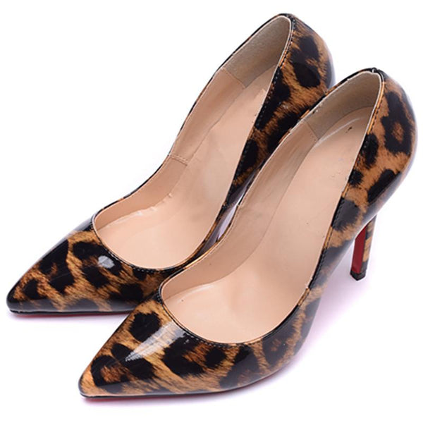 Womens Sexy Leopard Print Pointed Toe High Heel Pumps