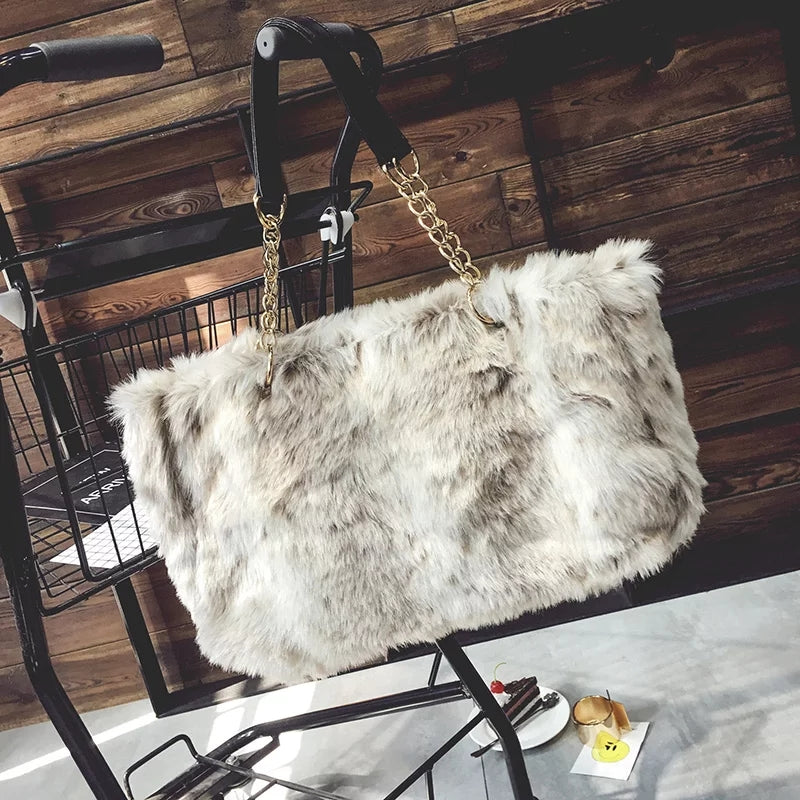 Faux Fur Velour Bags