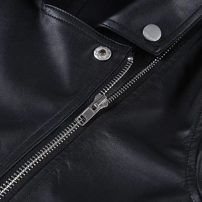 3/4 Faux Leather Jackets