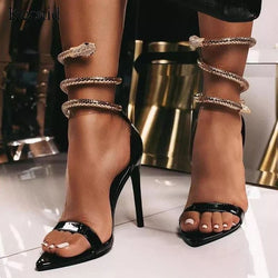 Bronze Snake Luxury Heels