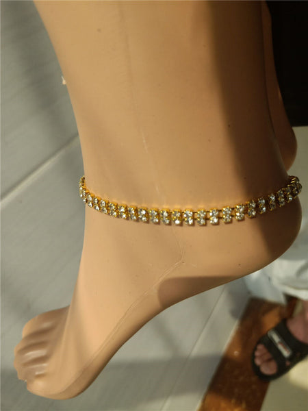 Anklet gold Chain Accessories Fashion Crystal Anklets for Women Foot Summer Beach Barefoot Bracelet Ankle on Leg Strap