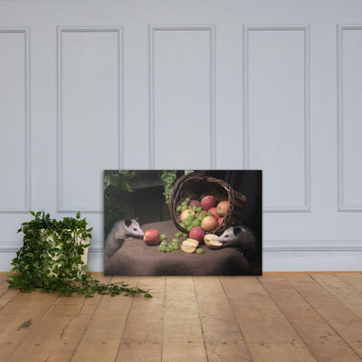 Still Life with Possums Canvas Print - AwesomePossumz