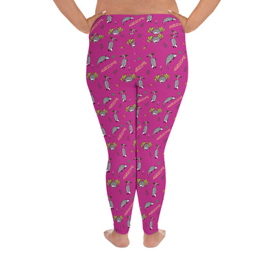 Awesome Possum Pink Plus Size Leggings - AwesomePossumz
