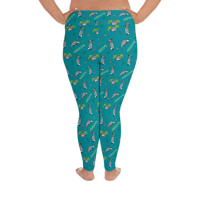 Awesome Possum Teal Plus Size Leggings - AwesomePossumz