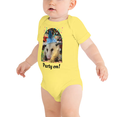 Party On Baby One Piece - AwesomePossumz
