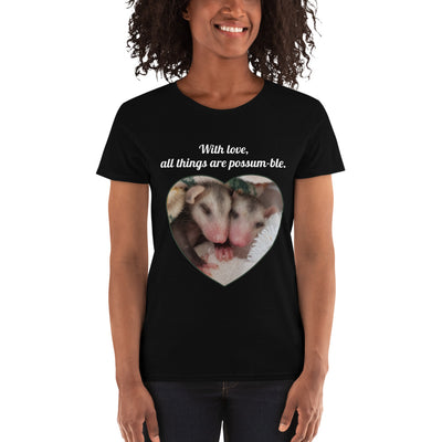 Possum-ble Misses short sleeve t-shirt - AwesomePossumz