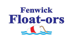 Fenwick Float-ors Logo including our iconic Buoy floating on the water logo.