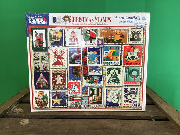 Christmas Stamps 1000 Piece Puzzle