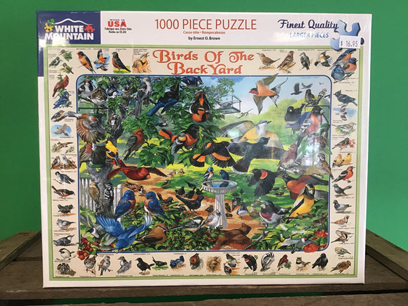 Birds of the Back Yard 1000 Piece Puzzle