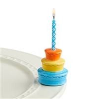 A194 Best Birthday Ever (CAKE CANDLE HOLDER) MINIS by Nora Fleming