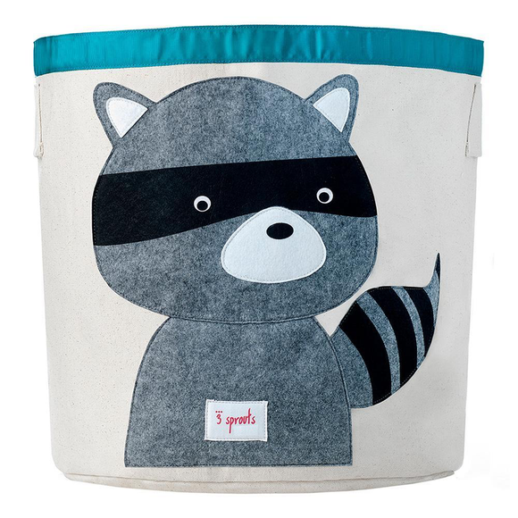 UBNRAC Grey Raccoon Storage Bin