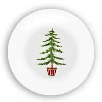 Bamboo Assorted Christmas Trees Plate
