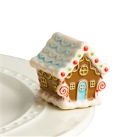A218 candyland lane (CHRISTMAS XMAS GINGERBREAD HOUSE) MINIS by Nora Fleming