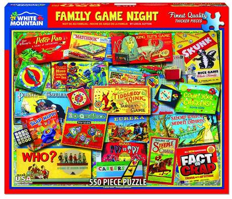 Family Game Night 550 Piece Puzzle