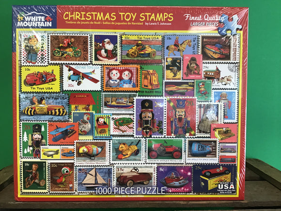 Christmas Toy Stamps 1000 Piece Puzzle