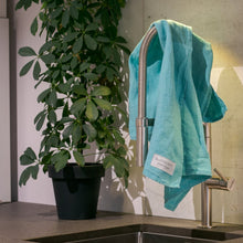 Load image into Gallery viewer, Linen kitchen towels mint green