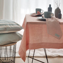 Load image into Gallery viewer, Linen tablecloth pink
