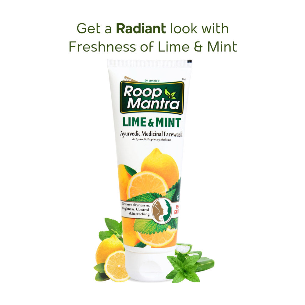 Roop Mantra Ayurvedic Lime & Mint Face Wash - 50ml