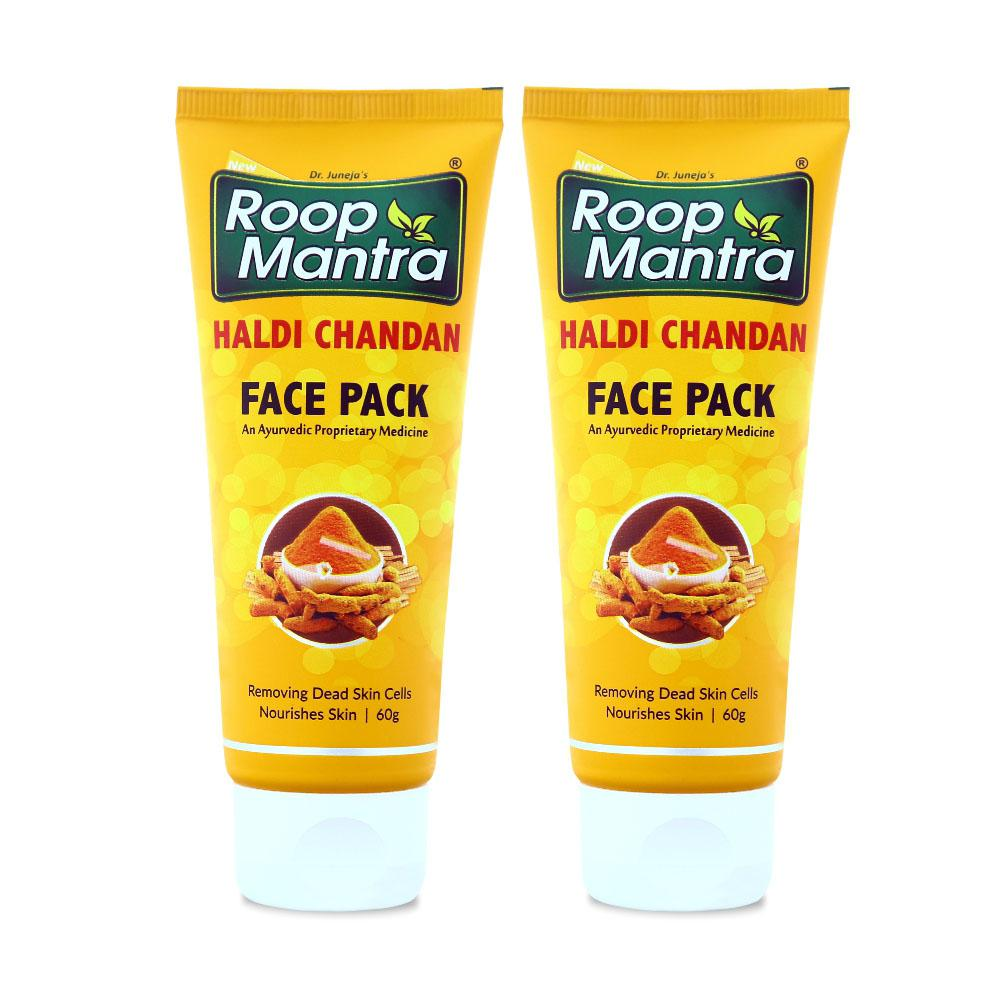 Roop Mantra Haldi Chandan Face Pack 60g Pack of 2