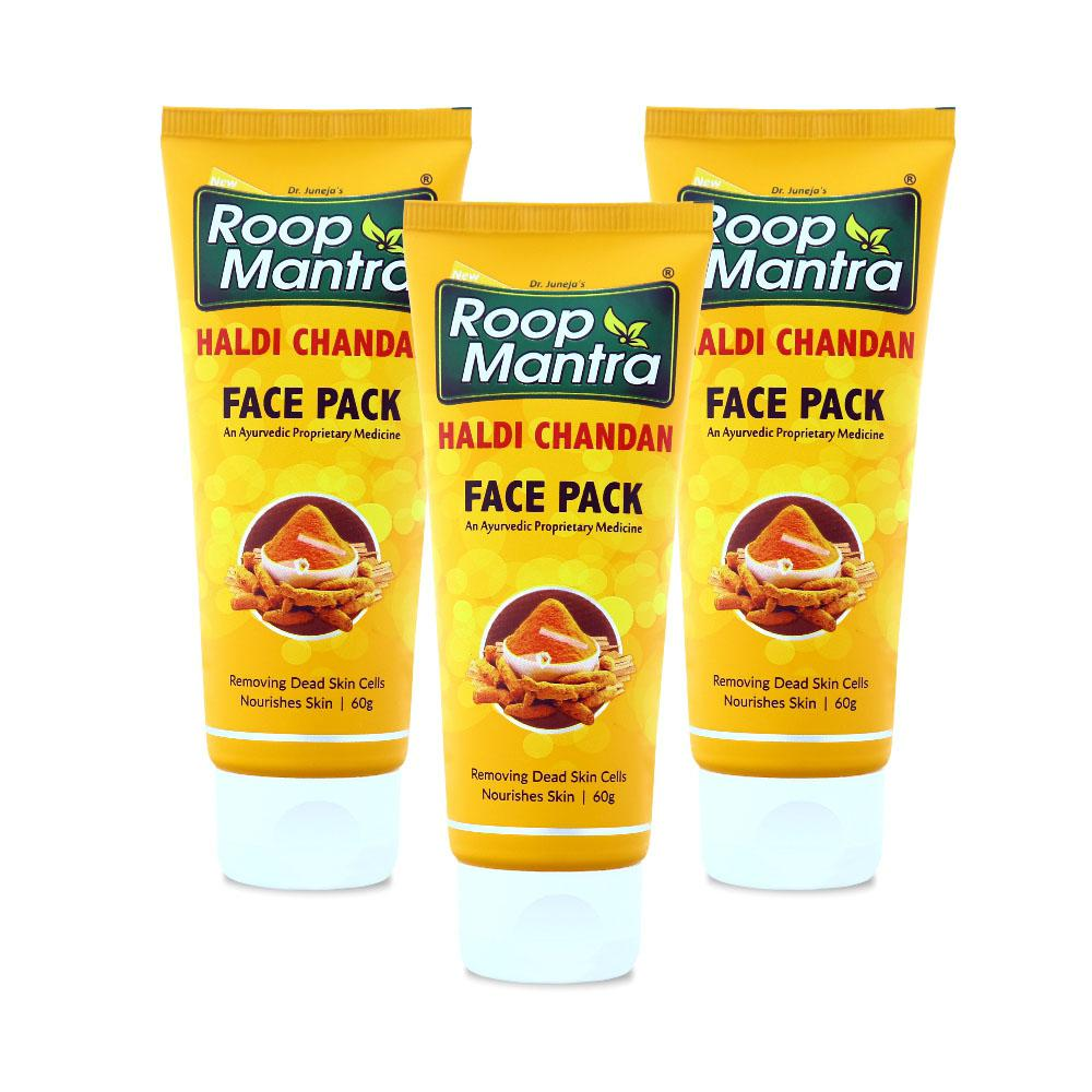 Roop Mantra Haldi Chandan Face Pack 60g Pack of 3
