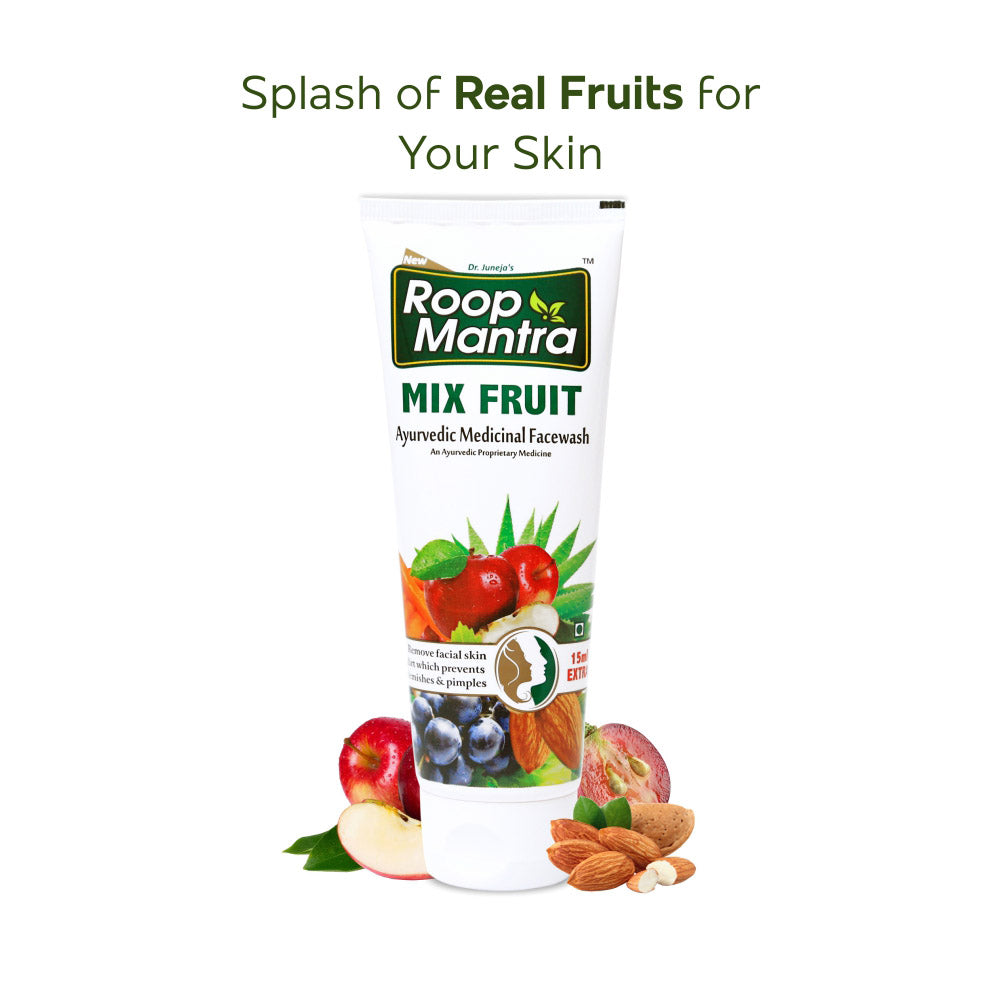 Roop Mantra Ayurvedic Mix Fruit Face Wash - 50ml