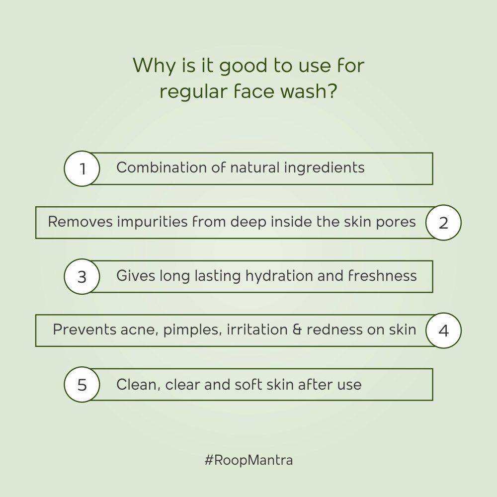 Roop Mantra Ayurvedic Aloe Vera Face Wash - 50ml