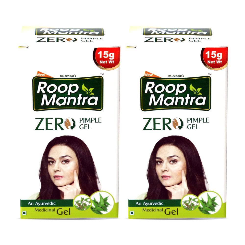 Roop Mantra Zero Pimple Gel 15g Pack of 2