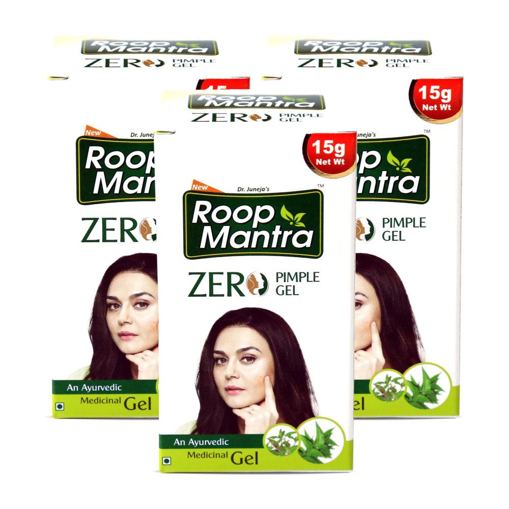 Roop Mantra Zero Pimple Gel 15g Pack of 3