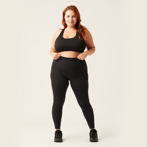 Modibodi 7/8 Recycled Active Leggings Black Moderate-Heavy
