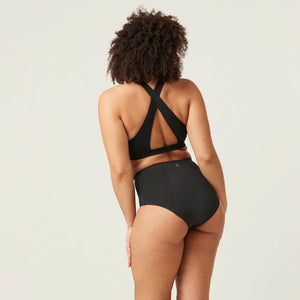 Modibodi Recycled Seamfree Full Brief Black Maxi-24hrs