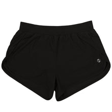 Load image into Gallery viewer, Modibodi Active Running Shorts Black Light-Moderate Flatlay