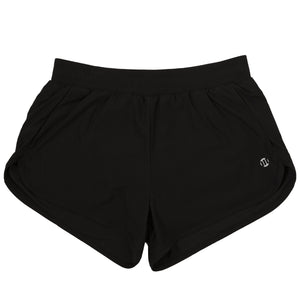 Modibodi Active Running Shorts Black Light-Moderate Flatlay