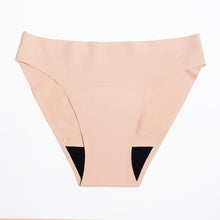 Load image into Gallery viewer, Modibodi Seamfree Bikini Beige Moderate Heavy Flatlay